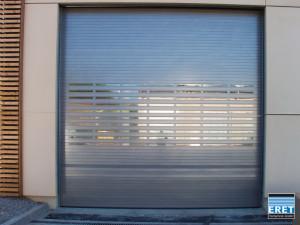 Schnelllauftor ASE-S/75, pulverbeschichtet, Doppelfenster klar, Funksteuerung